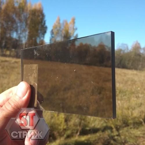 Монолитный поликарбонат 10 мм оптимальный бронза