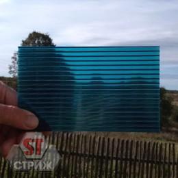 Сотовый поликарбонат 4 мм бирюза