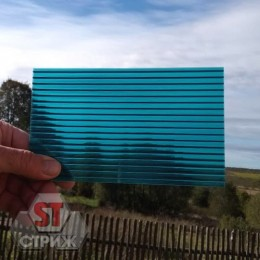 Сотовый поликарбонат 16 мм бирюза