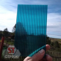 Сотовый поликарбонат 6 мм бирюза