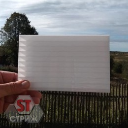 Сотовый поликарбонат 8 мм молочный\белый