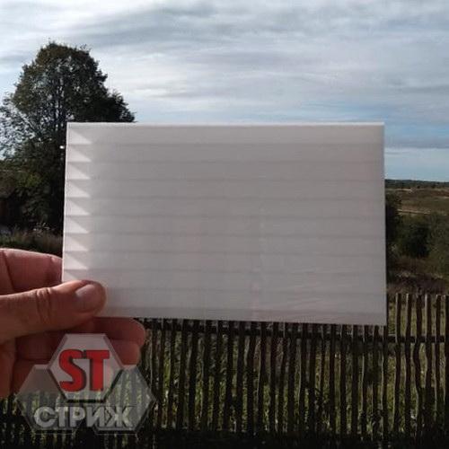 Сотовый поликарбонат 6 мм молочный\белый