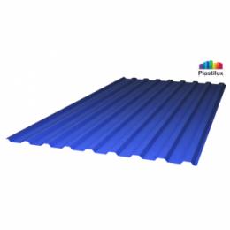 """Профилированный поликарбонат синий """"колотый лед"""" 0,9 мм"""