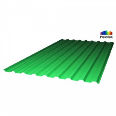 Профилированный поликарбонат зеленый «колотый лед» 0,9 мм