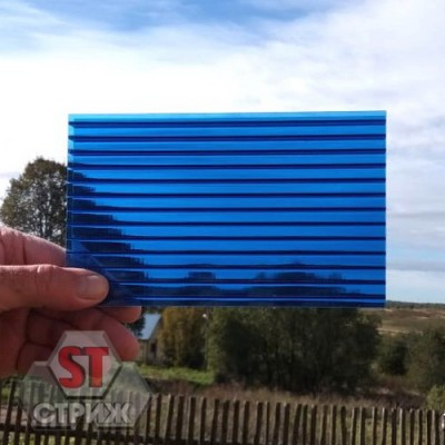 Сотовый поликарбонат 4 мм синий