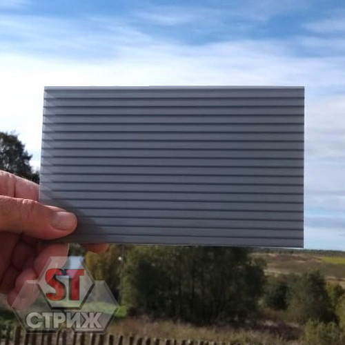 Сотовый поликарбонат 6 мм серебро