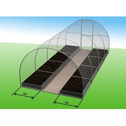 Комплекты грядок для теплиц 4*3м -  2шт*1м (высота 20)