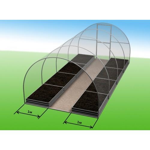 Комплекты грядок для теплиц 3*8м -  2шт*1м (высота 20)