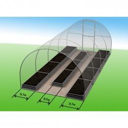 Комплекты грядок для теплиц 4*3 - 2шт*0,7м и 1шт*0,5м